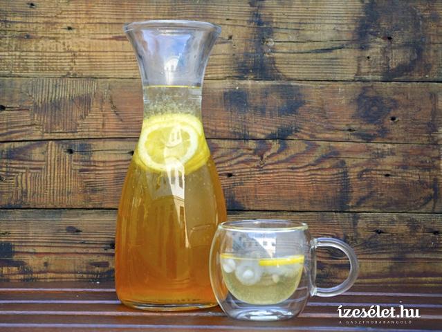 Gyömbéres jeges tea