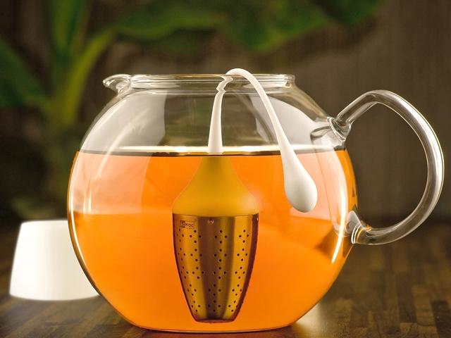 Tea selyemzsákban