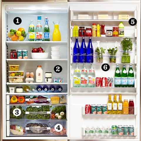 Mit és hová pakoljunk a hűtőben?
