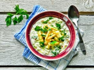 Citromos fehérspárga főzelék