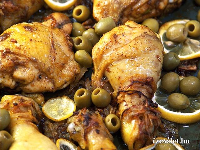 Citromos, olajbogyós csirkecomb