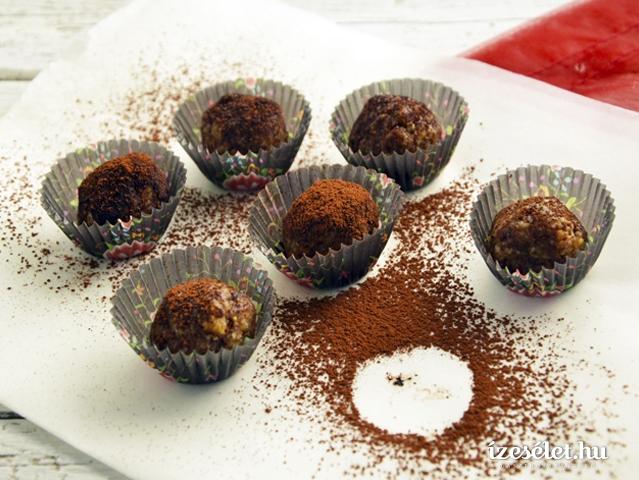 Csokoládés datolyabonbon