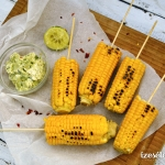 Főtt kukorica, chilis, lime-os fűszervajjal