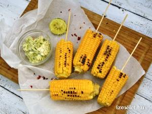 Főtt kukorica, chilis-lime-os fűszervajjal