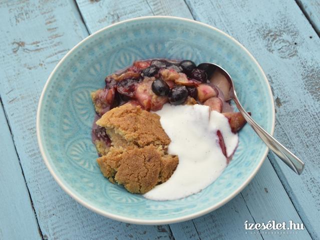 Cobbler - a sült gyümölcsös vaníliás joghurthab