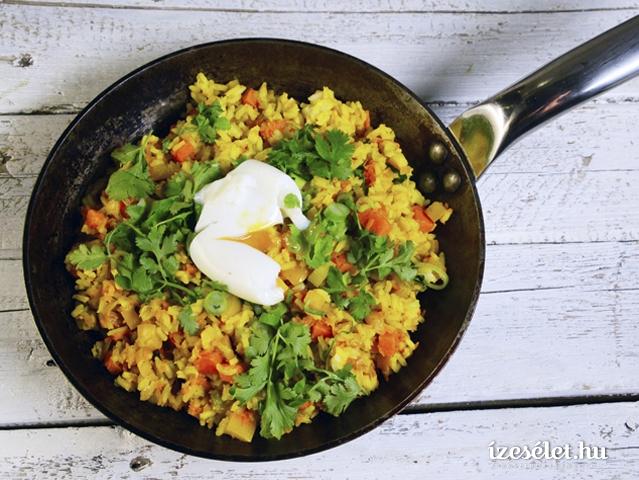 Vegetáriánus, fűszeres sült rizs