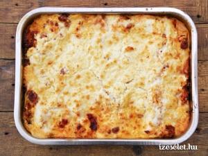 Kelkáposztás, kolbászos lasagne