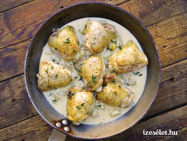 Klasszikus francia sült csirke 40 gerezd fokhagymával