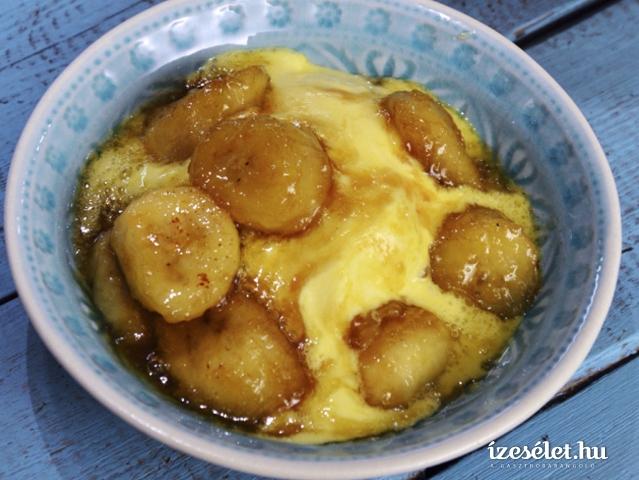 Rumos, karamellás banán vaníliafagyival