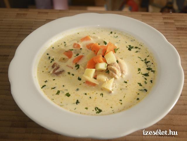 Citromos csirkebecsinált leves