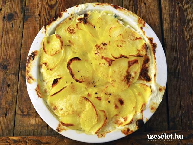 Spenótos rakott krumpli lazaccal