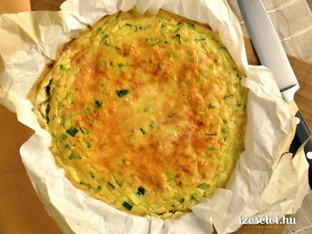 Zöldborsós sütőben sült omlett (frittata)