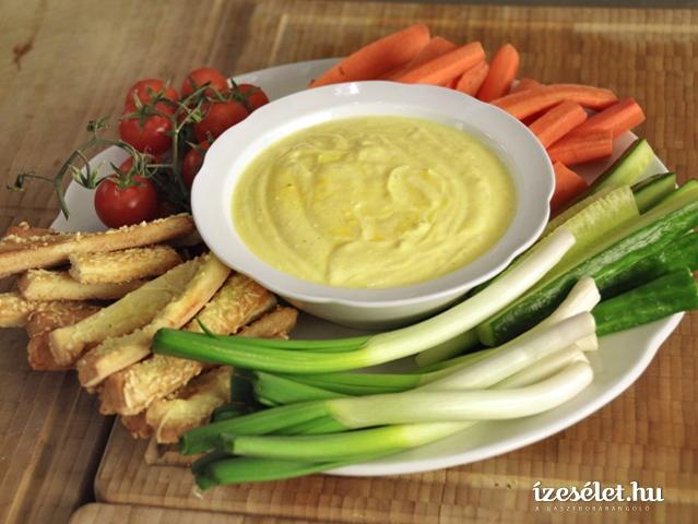 Zöldségek mártogatóval