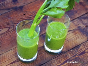 Zöldturmix, alma-zeller smoothie