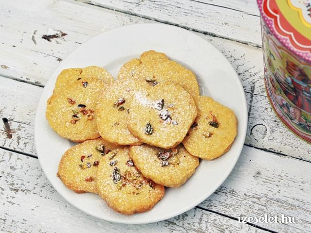 Vaníliás, citromos keksz