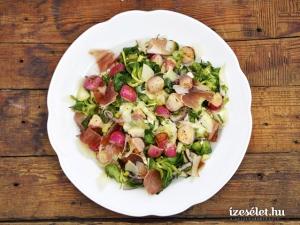 Édeskömény és retek saláta