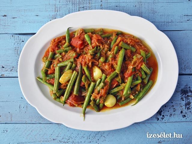 Fűszeres, paradicsomos zöldbab