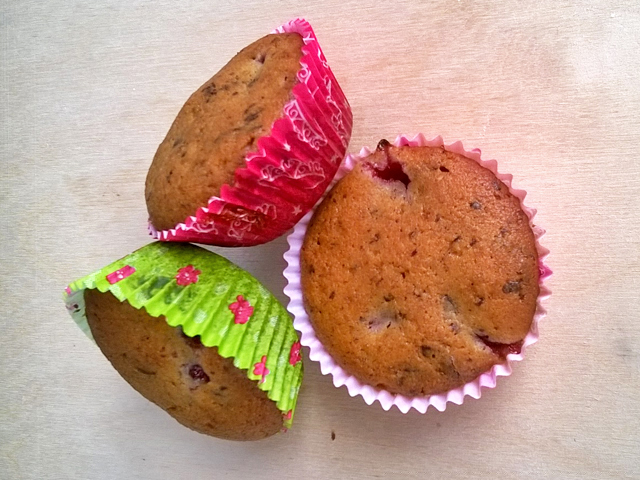 Banános mogyoróvajas chiamagos muffin