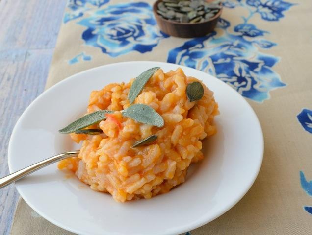 Sütőtökös rizottó (gluténmentes)