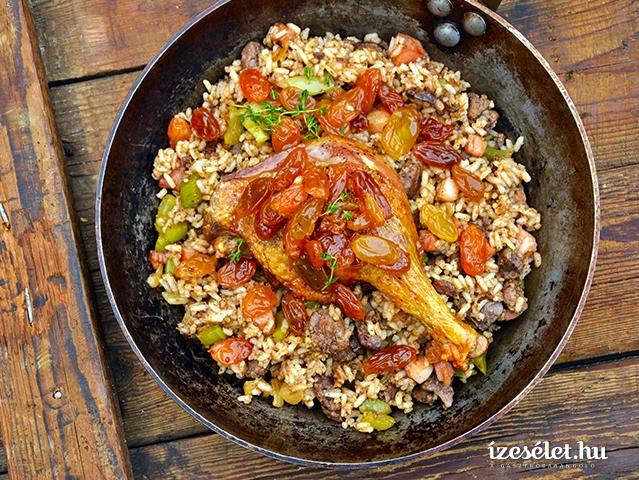 Kacsasült fűszeres rizzsel