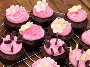 1218 Dupla csokoládés tortácska pink mascarponekrémmel