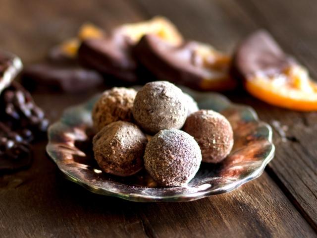 Ünnepi narancsos csokoládé trüffel