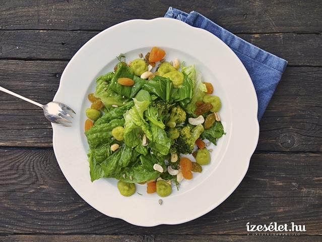Csupazöld detox saláta