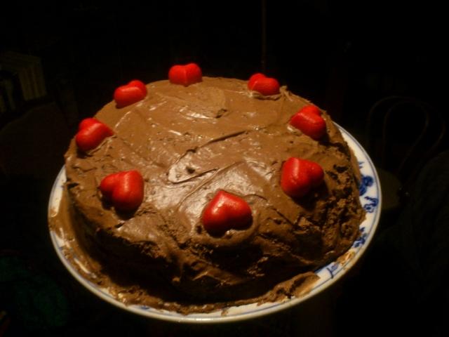 Almás csokoládétorta