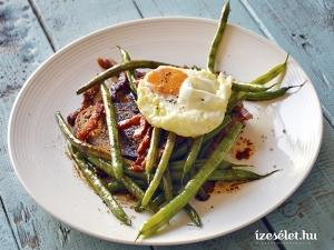 Sült zöldbab saláta