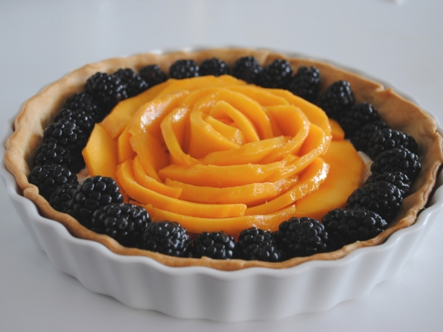 Szedres-mangós tarte