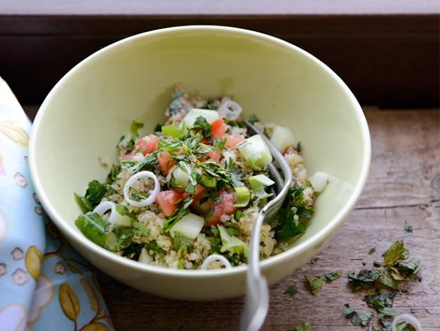 Quinoa tabbouleh (gluténmentes)