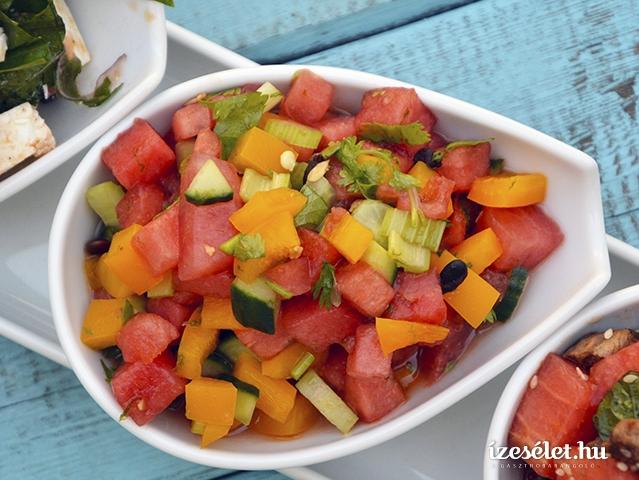 Sült csirkemell görögdinnye-salsával