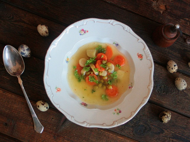 Sáfrányos zöldségleves