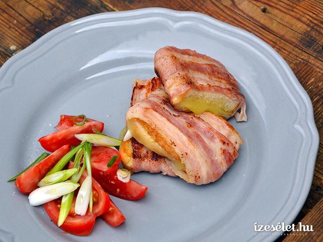 Baconös, cheddar sajtos reggeli