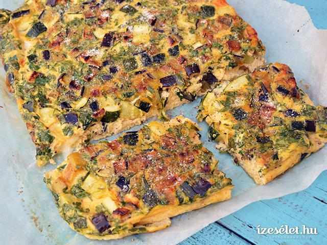 Sütőben sült padlizsános omlett