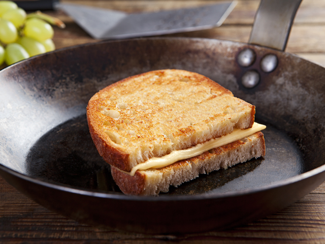 Amerikai sajtos szendvics