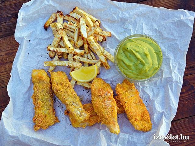 Egészséges fish&chips, ropogós sült zellerrel