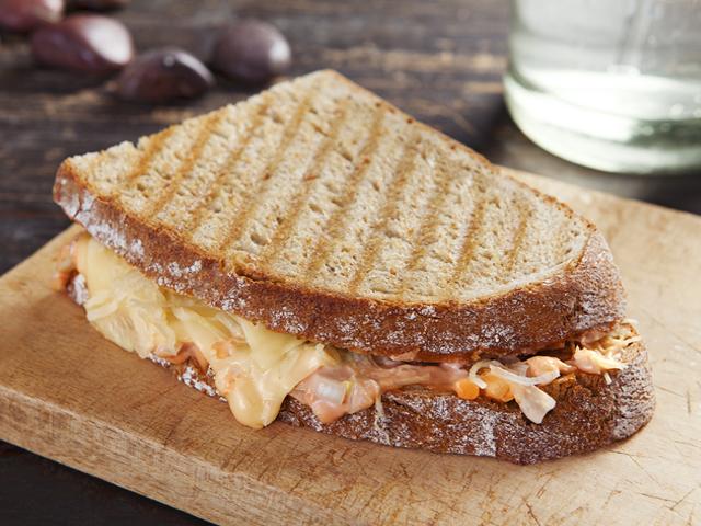 Vegetáriánus Reuben szendvics