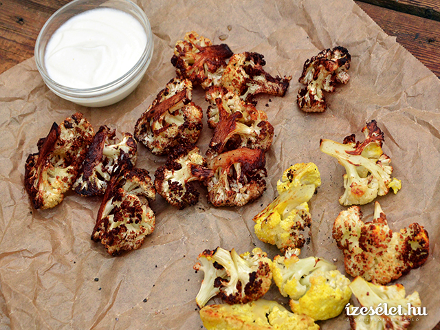 Cayenne borsos, fűszeres sült karfiol
