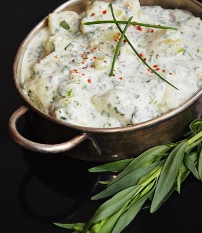 Zöldfűszeres burgonyasaláta