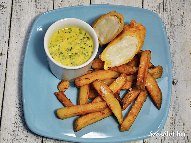 Fish and chips házi majonézzel