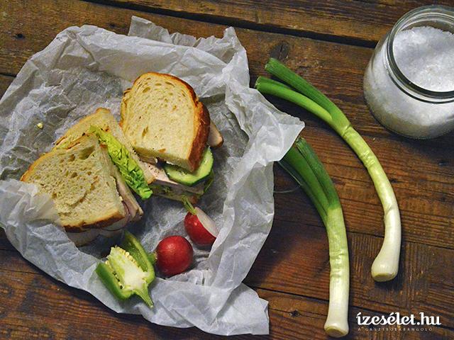 Tavaszi húsos szendvics