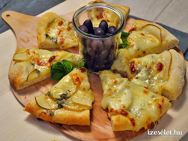 Körtés- kéksajtos pizza