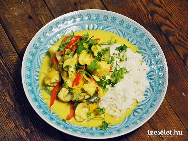 Zöldséges, halas paella