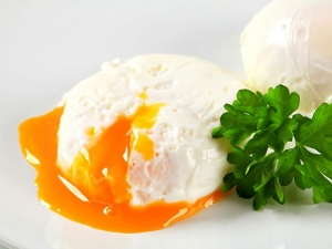 17194315 - two poached eggs on plate
