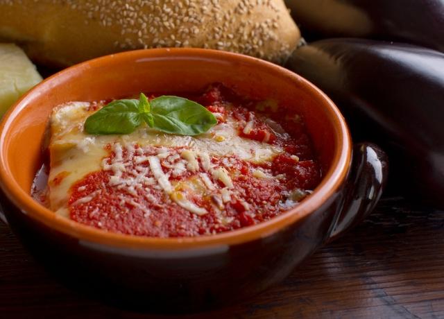 Padlizsános-parmezános lasagne