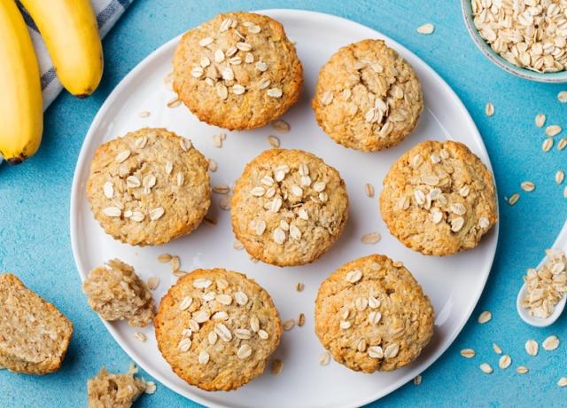 Almás-banános muffin datolyával és fahéjjal