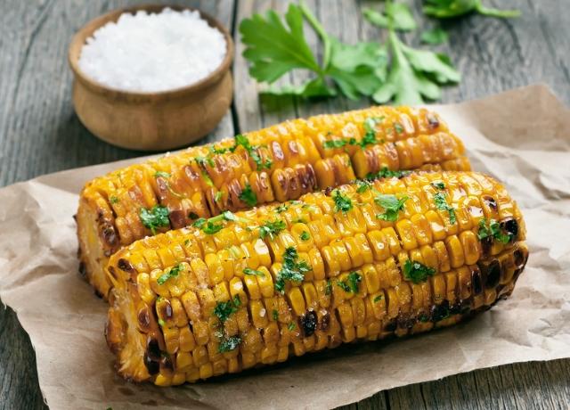 Grillezett BBQ kukorica