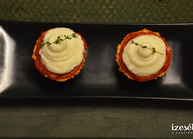 Mini húsos muffin ,,titkos'' burgonyapürével