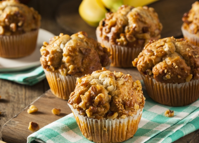 Banános-hajdinás muffin